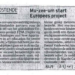 mu-zee-um start Europees Project
