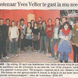 Kunstenaar Yves Velter te gast in mu-zee-um