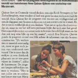 Workshop met Arne Quinze