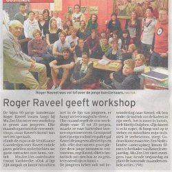 Roger Raveel geeft workshop